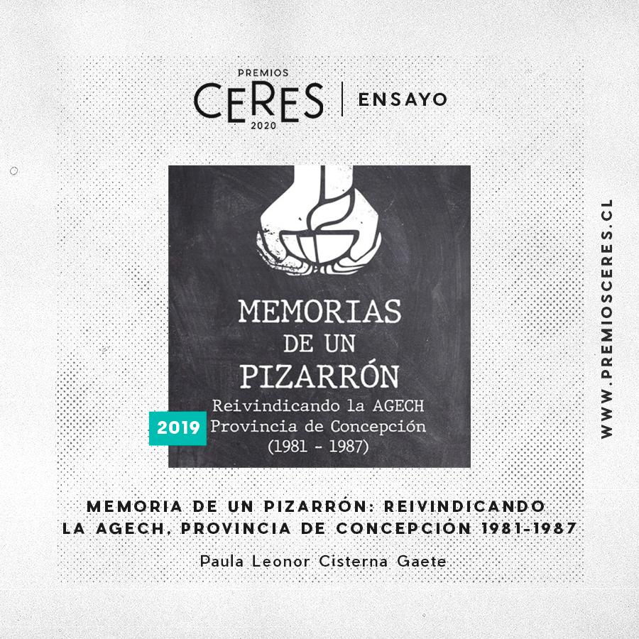 ENSAYO Memoria de un Pizarrón: Reivindicando la AGECH, Provincia de Concepción 1981-1987