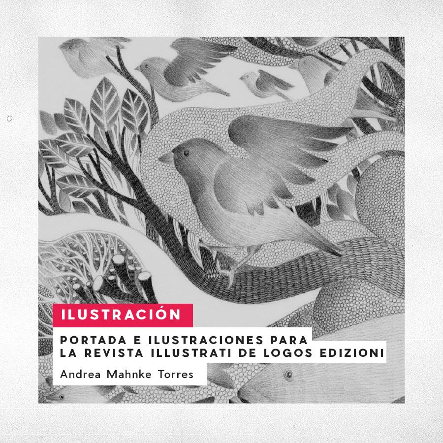 Portada e Ilustraciones para la revista Illustrati de Logos Edizioni. Andrea Mahnke