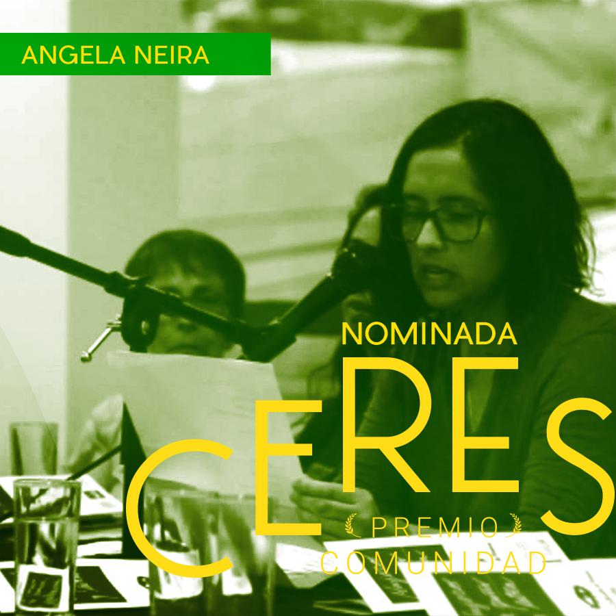 Angela Neira-Escritora, docente y editora, creadora de ciclos literarios de conversación «Mujeres de Puño y Letra»